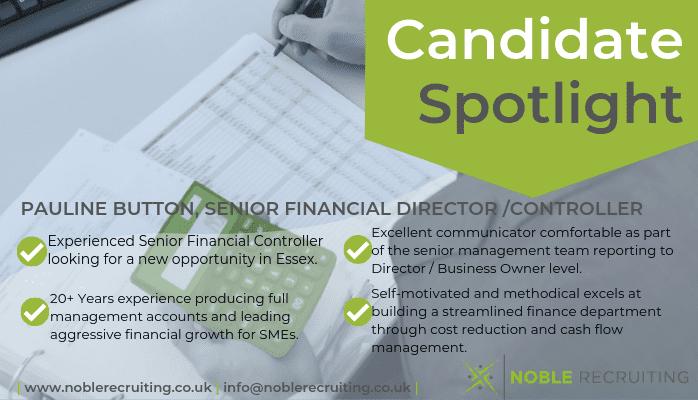 January's Candidate Spotlight – Finance Director